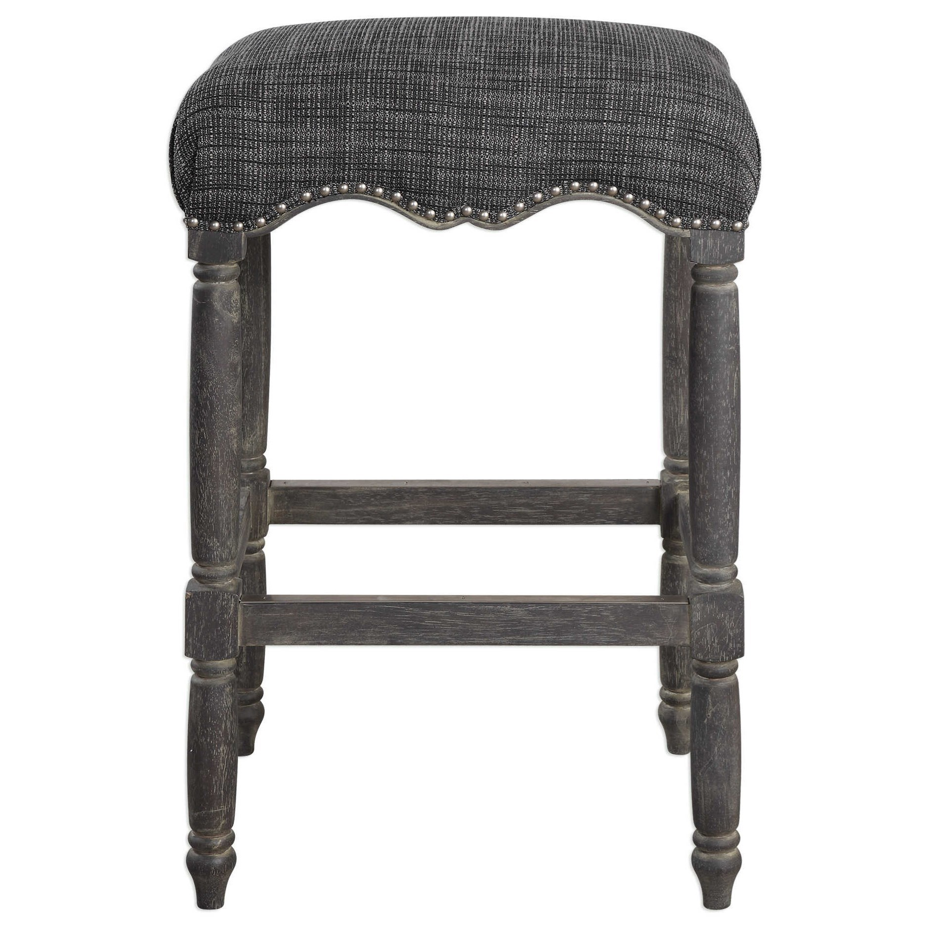 Uttermost Accent Furniture Aiden Brown Gray Bar Stool - Item Number: 23354
