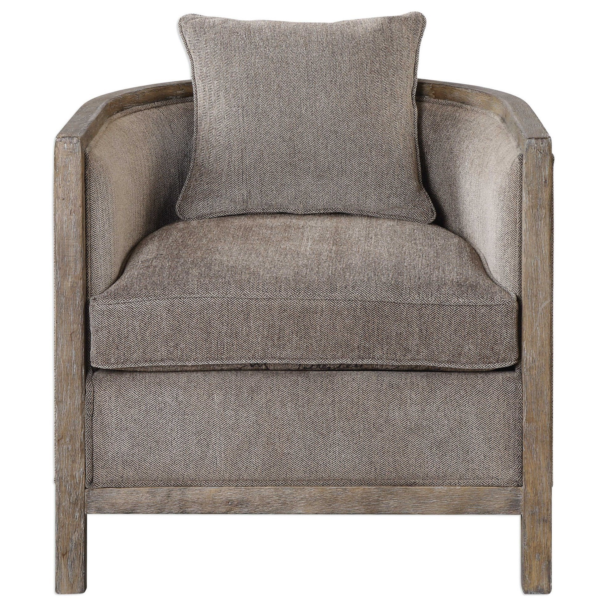 Uttermost Accent Furniture Viaggio Gray Chenille Accent Chair - Item Number: 23359