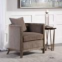 Uttermost Accent Furniture Viaggio Gray Chenille Accent Chair