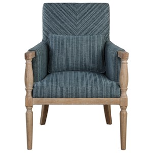 Uttermost Accent Furniture Seamore Pattern Armchair