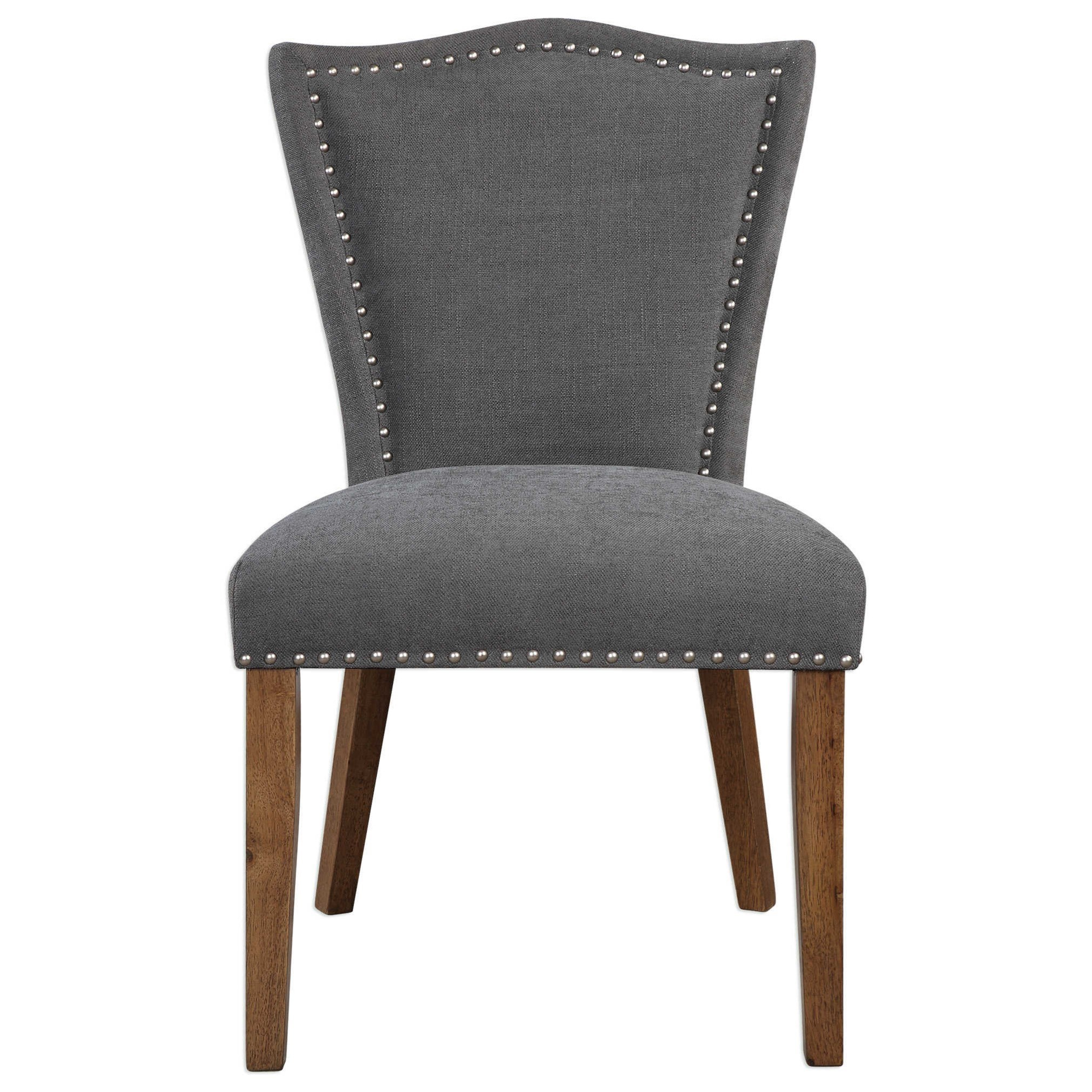 Uttermost Accent Furniture Ruhls Gray Armless Chair - Item Number: 23365