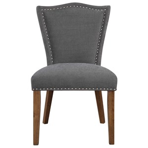 Ruhls Gray Armless Chair