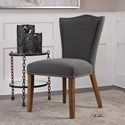Uttermost Accent Furniture Ruhls Gray Armless Chair