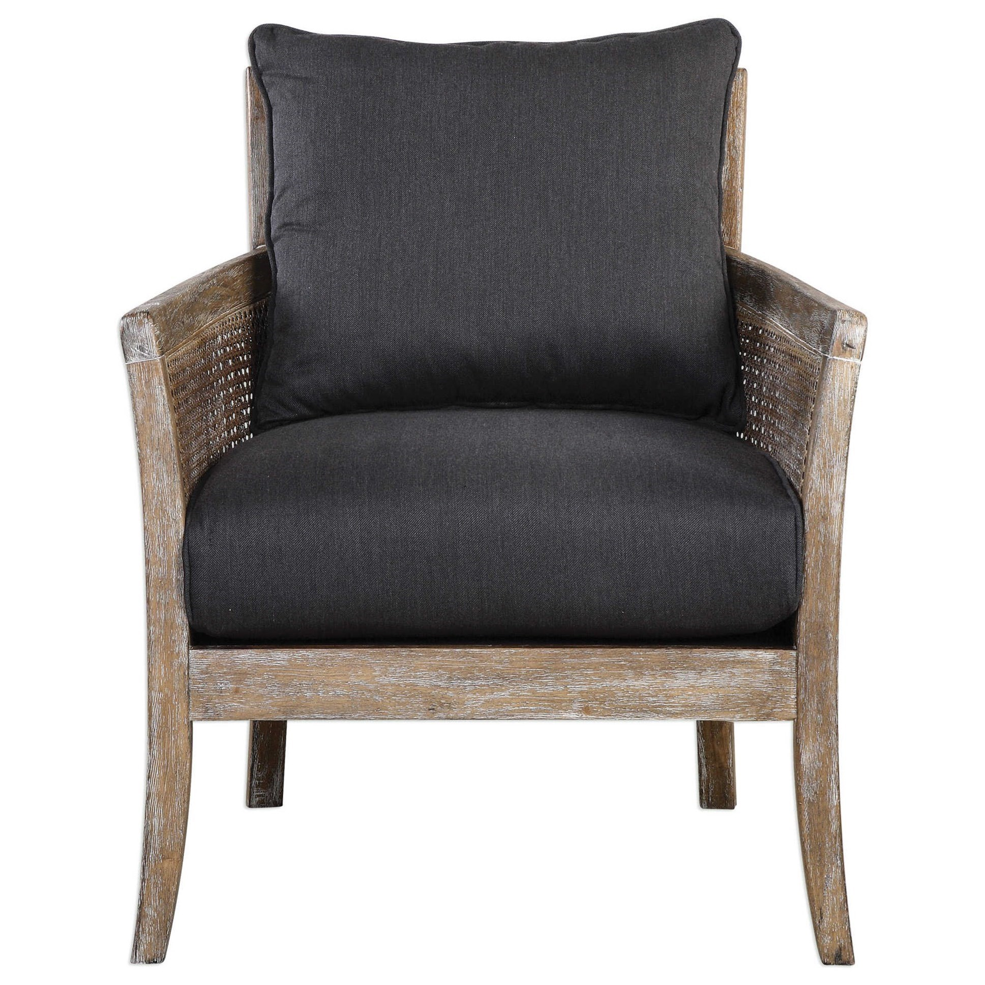 Accent Furniture - Accent Chairs Encore Dark Gray Armchair by Uttermost at O'Dunk & O'Bright Furniture