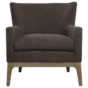 Uttermost Accent Furniture Arzo Dark Gray Armchair