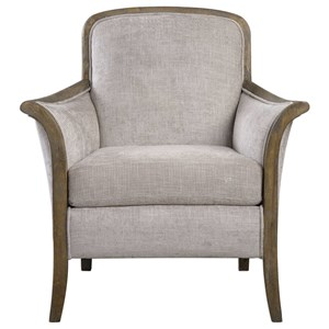 Uttermost Accent Furniture Brittoney Taupe Armchair