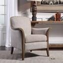 Uttermost Accent Furniture Brittoney Taupe Armchair