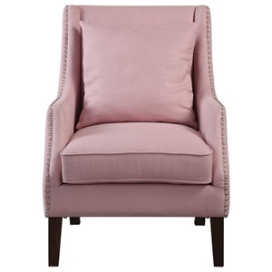 Uttermost Accent Furniture Arieat Pink Armchair