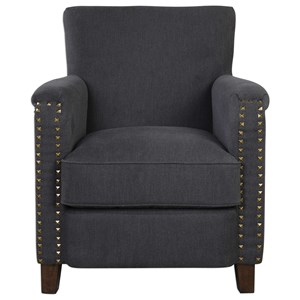 Uttermost Accent Furniture Finchly Deep Gray Armchair
