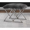 Uttermost Accent Furniture Astairess Fur Small Bench
