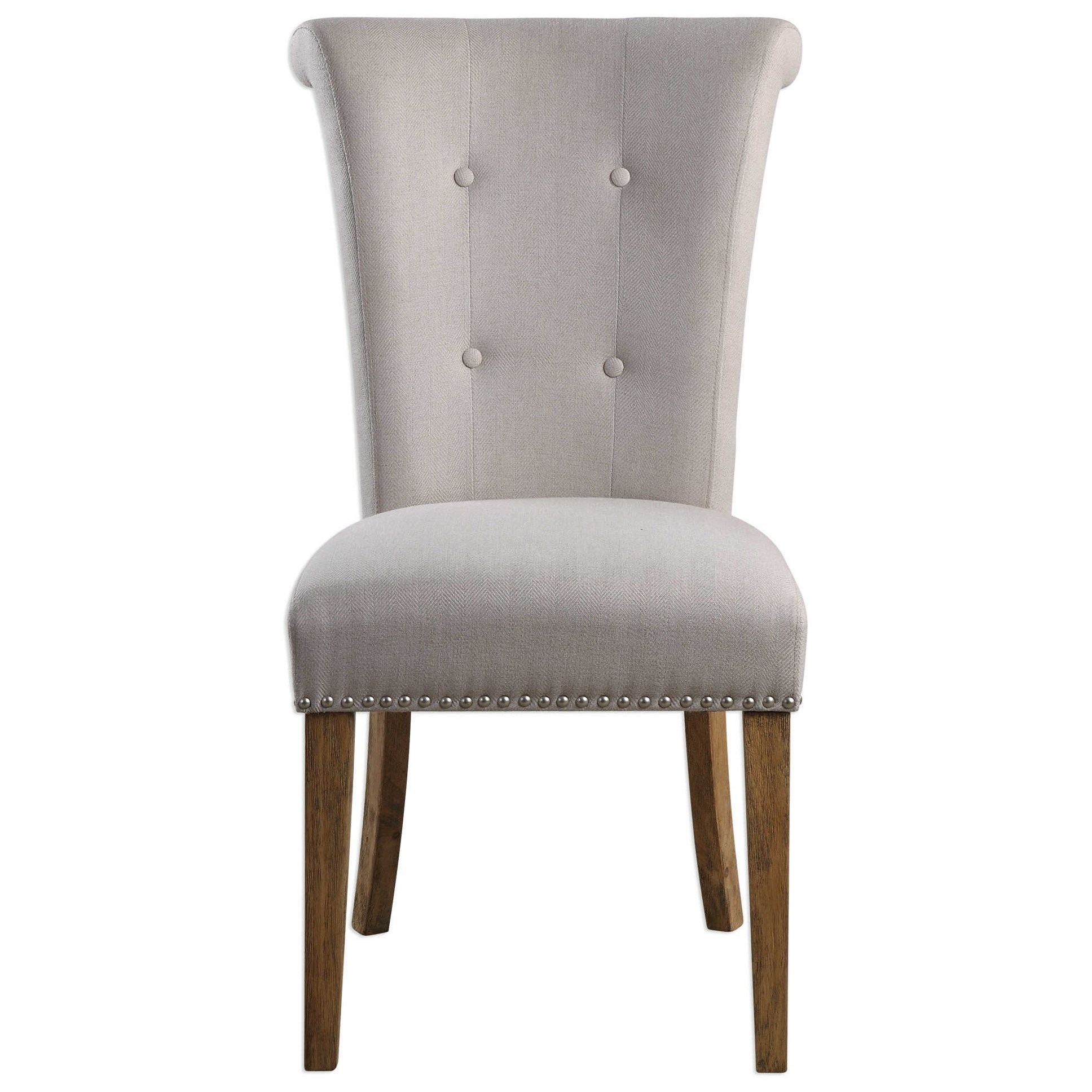 Accent Furniture Lucasse Oatmeal Dining Chair by Uttermost at Goffena Furniture & Mattress Center