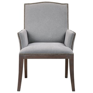 Uttermost Accent Furniture Lantry Stony Gray Accent Chair