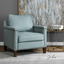 Uttermost Accent Furniture Charlotta Sea Mist Accent Chair