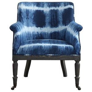 Uttermost Accent Furniture Royal Cobalt Blue Accent Chair