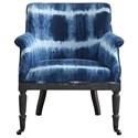 Uttermost Accent Furniture Royal Cobalt Blue Accent Chair - Item Number: 23385