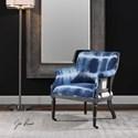 Uttermost Accent Furniture Royal Cobalt Blue Accent Chair