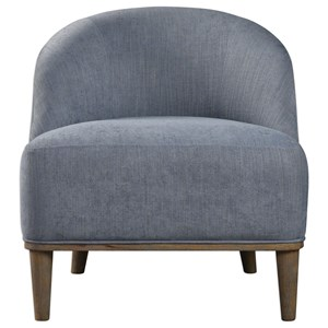 Uttermost Accent Furniture Nerine Silver Blue Accent Chair