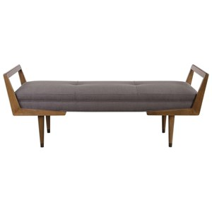 Uttermost Accent Furniture Waylon Mid-Century Modern Bench