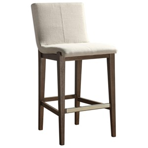 klemens linen bar stool
