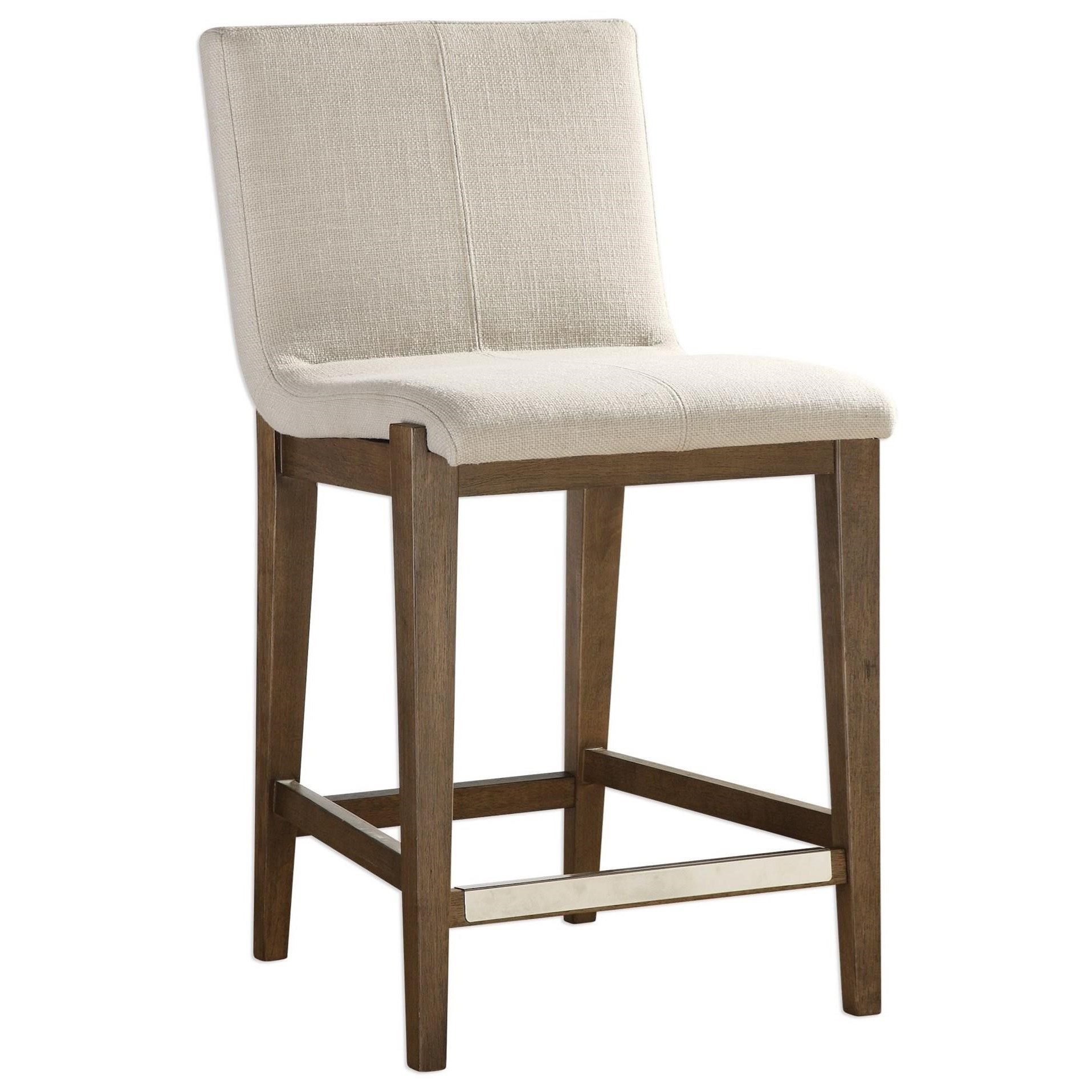 Accent Furniture - Stools Klemens Linen Counter Stool by Uttermost at Factory Direct Furniture