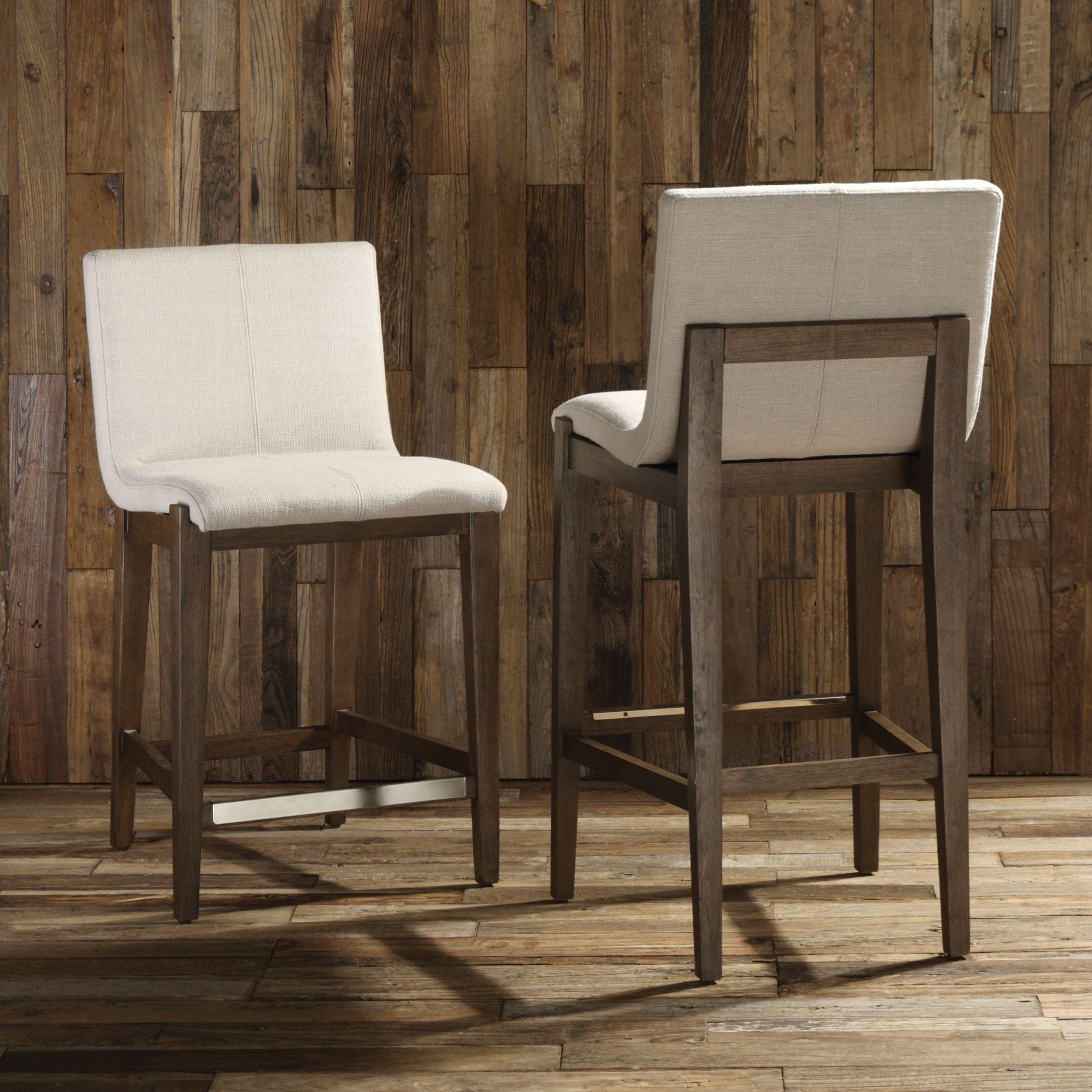Uttermost Accent Furniture Klemens Linen Counter Stool