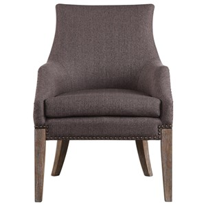 Uttermost Accent Furniture Karson Caramel Tan Accent Chair