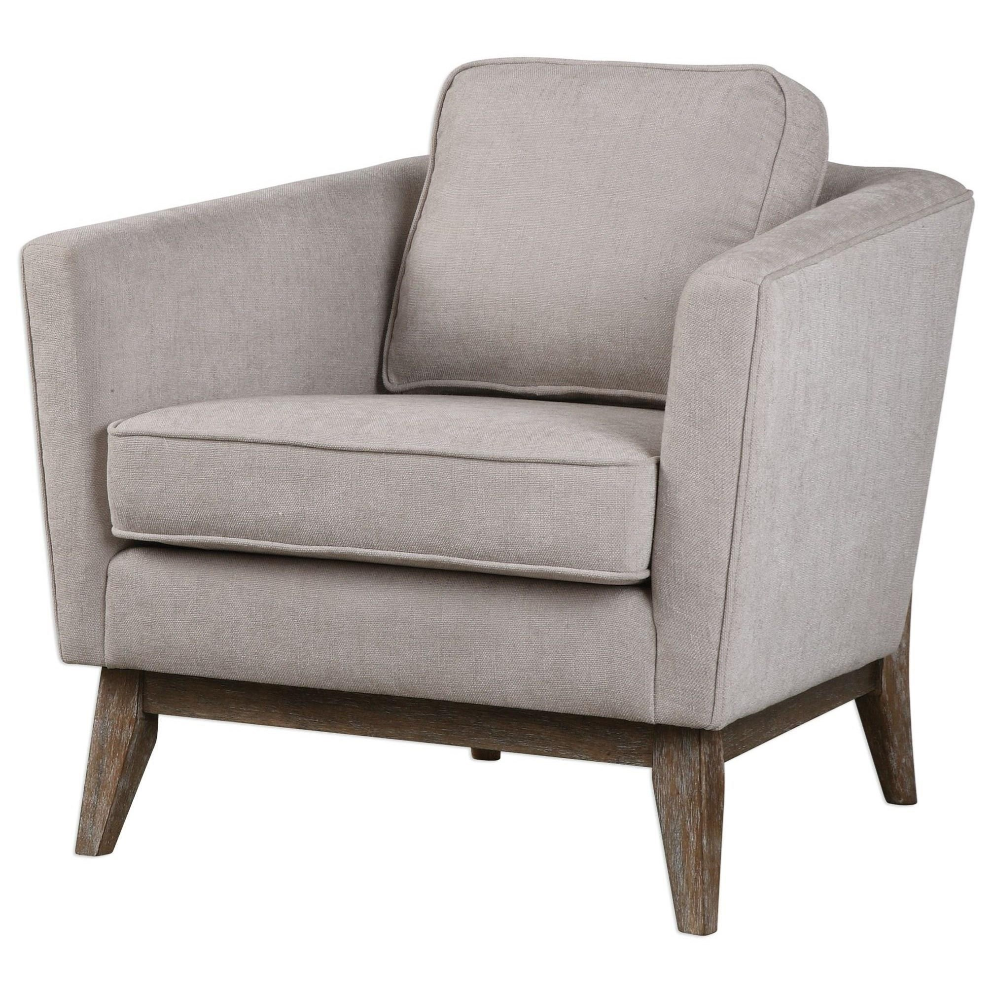 Accent Furniture - Accent Chairs Varner Beige Linen Accent Chair by Uttermost at Del Sol Furniture