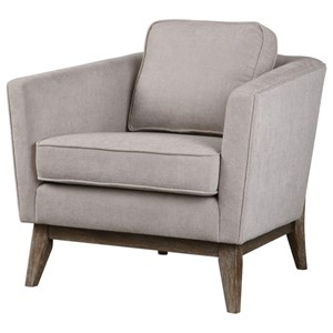 Uttermost Accent Furniture Varner Beige Linen Accent Chair