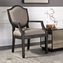 Uttermost Accent Furniture Jenkins Shield Back Armchair