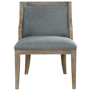 Uttermost Accent Furniture Galloway Steel Blue Accent Chair
