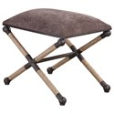 Uttermost Accent Furniture Evert Taupe Brown Accent Stool - Item Number: 23398