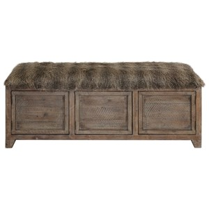 Uttermost Accent Furniture Truett Wooden Storage Bench