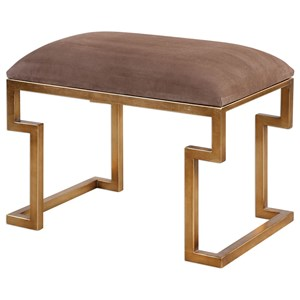 Uttermost Accent Furniture Lennon Small Leather Bench