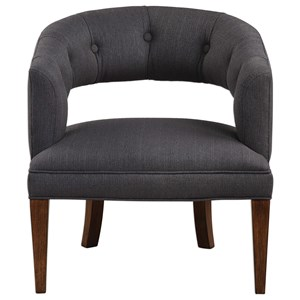 Uttermost Accent Furniture Ridley Charcoal Linen Accent Chair