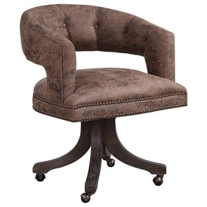 Uttermost Accent Furniture Waylon Cocoa Brown Swivel Chair