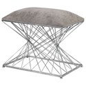 Uttermost Accent Furniture - Benches Zelia Silver Accent Stool - Item Number: 23410