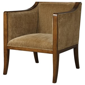 Uttermost Accent Furniture Milson Caramel Fabric Club Chair