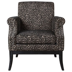 Uttermost Accent Furniture Kaius Tan & Black Accent Chair