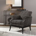 Uttermost Accent Furniture Kaius Tan & Black Accent Chair