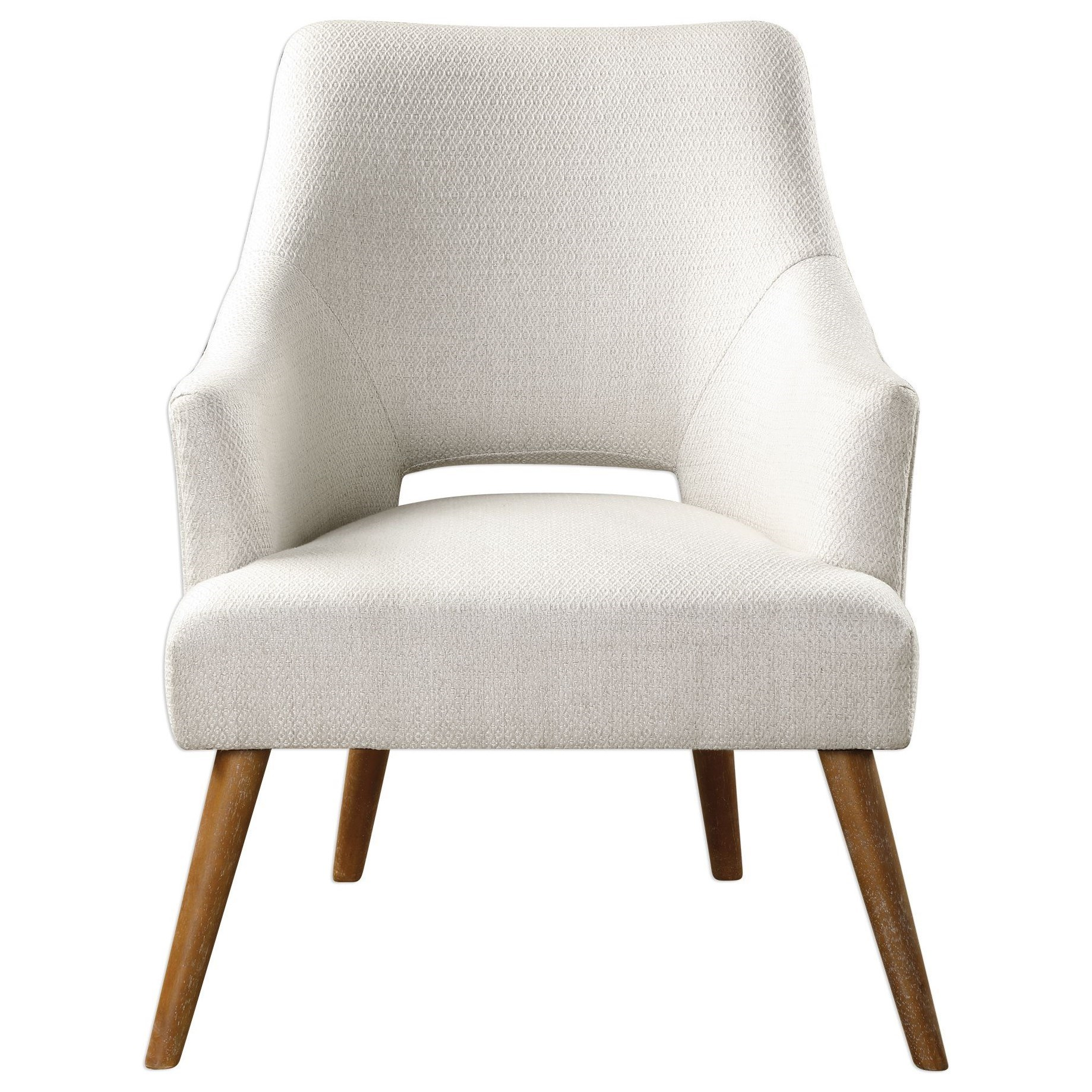Accent Furniture - Accent Chairs Dree Retro Accent Chair by Uttermost at Goffena Furniture & Mattress Center