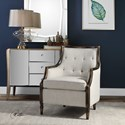Uttermost Accent Furniture Barraud Oatmeal Accent Chair