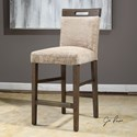 Uttermost Accent Furniture Christelle Caramel Counter Stool