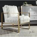 Uttermost Accent Furniture Delphine White Accent Chair
