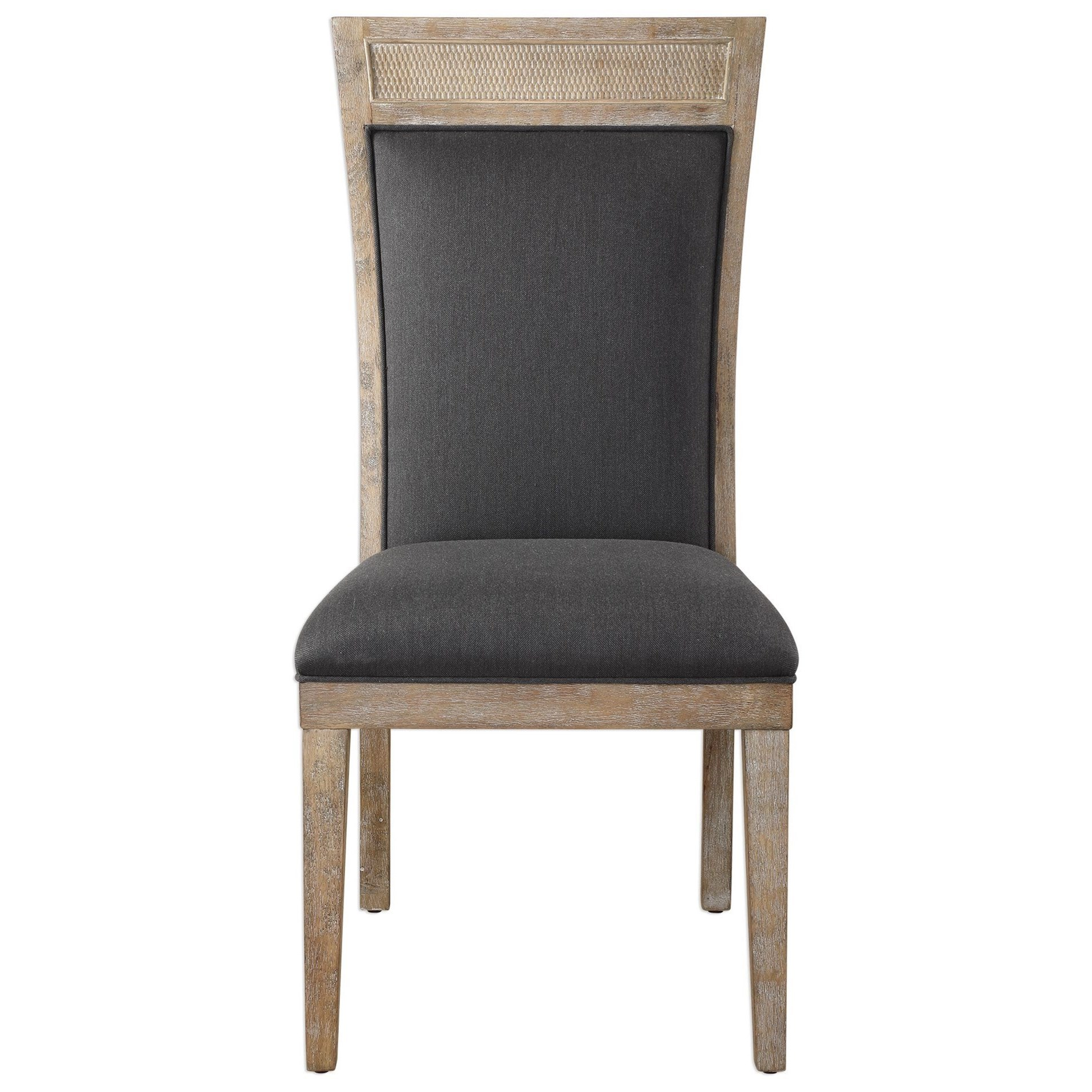 Accent Furniture - Accent Chairs Encore Dark Gray Armless Chair by Uttermost at Goffena Furniture & Mattress Center