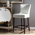 Uttermost Accent Furniture Dariela White Counter Stool