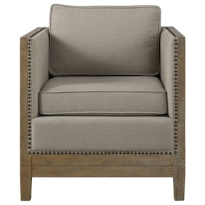 Uttermost Accent Furniture Kyle Weathered Oak Accent Chair