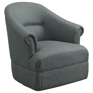 Uttermost Accent Furniture Tuloma Swivel Chair