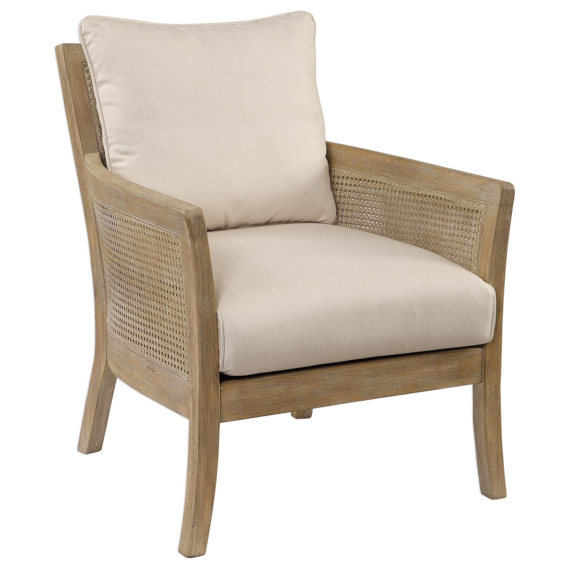 Accent Furniture - Accent Chairs Encore Natural Armchair by Uttermost at Reid's Furniture