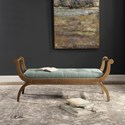 Uttermost Accent Furniture - Benches Allier Scroll Bench