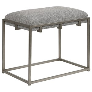 Uttermost Accent Furniture Edie Silver Small Bench